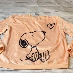 Peach Snoopy super soft snuggle sweatshirt